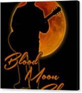 Blood Moon Blues T Shirt Canvas Print