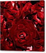 Blood Red Roses Canvas Print