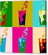 Bloody Mary Pop Art Panels Canvas Print