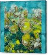 Bloom In Vintage Ornate Style Canvas Print