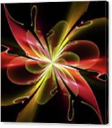 Bloom With Red Canvas Print