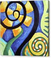 Blooming Aka Chris' Snail Canvas Print