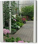 Blooming Conservatory Canvas Print