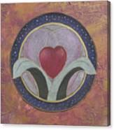 Blooming Heart Mandala Canvas Print