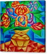 Blooms In Blue Canvas Print