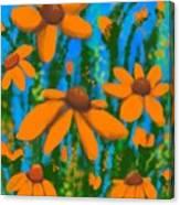 Blooms Of Orange Canvas Print