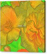 Blooms Yellow Canvas Print