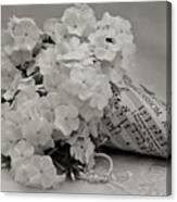 Blossom And The Bee Cornucopia  Canvas Print
