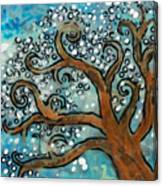 Blossom Tree - Miniature Art Canvas Print