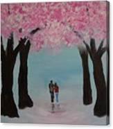 Blossoming Romance Canvas Print
