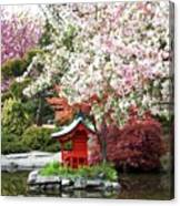 Blossoms Abound In The Japanese Garden Canvas Print