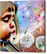 Blowing Blessings Canvas Print
