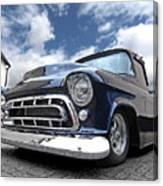 Blue 57 Stepside Chevy Canvas Print