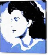 Blue - Abstract Woman Canvas Print