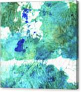 Blue And Green Abstract - Imagine - Sharon Cummings Canvas Print