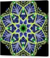 Blue And Green Flower Mandala Canvas Print