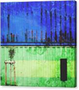 Blue And Green Metallic Shed Canvas Print