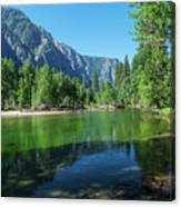 Blue And Green River Canvas Print