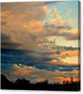 Blue And Orange Sunset Canvas Print