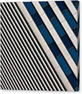 Blue And White Diagonals Canvas Print