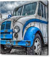 Blue And White Divco Canvas Print