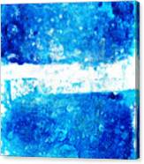 Blue And White Modern Art - Two Pools 2 - Sharon Cummings Canvas Print