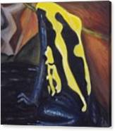 Blue And Yellow Poison Dart Frog Canvas Print
