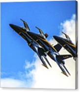 Blue Angel Fly By Canvas Print