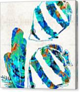Blue Angels Fish Art By Sharon Cummings Canvas Print