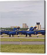 Blue Angels Flight Line Canvas Print