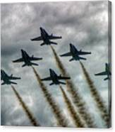 Blue Angels In Formation Canvas Print