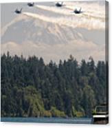 Blue Angels Over Lake Washington Canvas Print