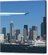 Blue Angels Over Seattle D028 Canvas Print