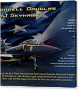 Blue Angels Ta-4j Skyhawk Canvas Print
