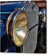 Blue Antique Auto Canvas Print