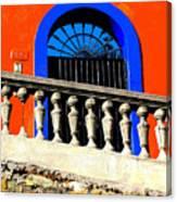 Blue Arch 1 By Michael Fitzpatrick Canvas Print