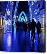 Blue Archways Of London Canvas Print
