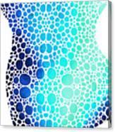 Blue Art - Colorforms 3 - Sharon Cummings  Canvas Print