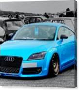Blue Audi Canvas Print
