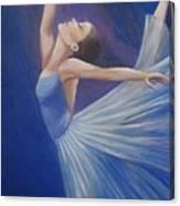 Blue Ballerina Canvas Print