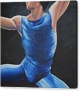 Blue Ballerino Canvas Print