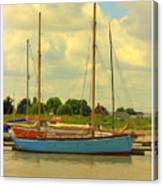 Blue Barge Canvas Print