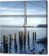 Blue Bay Bridge Canvas Print