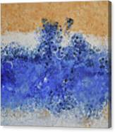 Blue Beach Bubbles Canvas Print