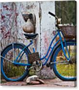 Blue Bicycle Canvas Print