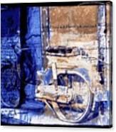 Blue Bike Abandoned India Rajasthan Blue City 2c Canvas Print