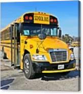 Blue Bird Vision School Bus Canvas Print