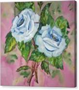 Blue Blue Roses Canvas Print