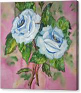 Blue Blue Roses Canvas Print