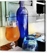 Blue Bottle Canvas Print